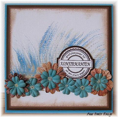 Kort med maling viftepensel