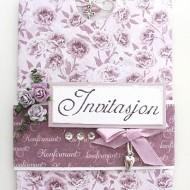 AB invitasjon rosa blomster Large Web view