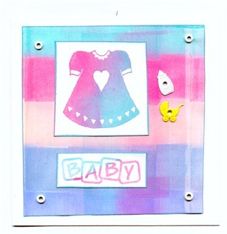 Baby Hvit glossy pastell kvadr jente eyelets