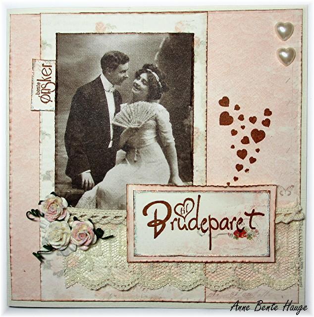 Hjertestempel bryllupskort