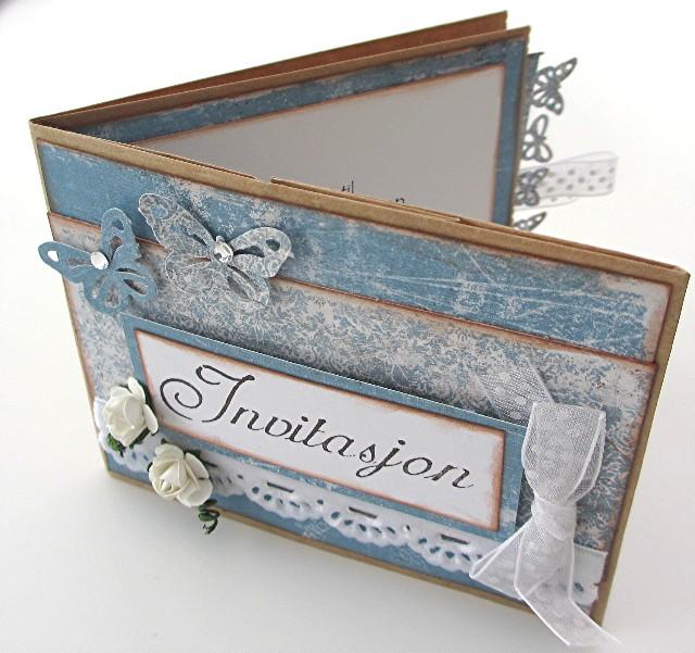 Invitasjon av papirpose